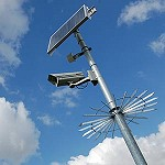 A solar powered CCTV camera